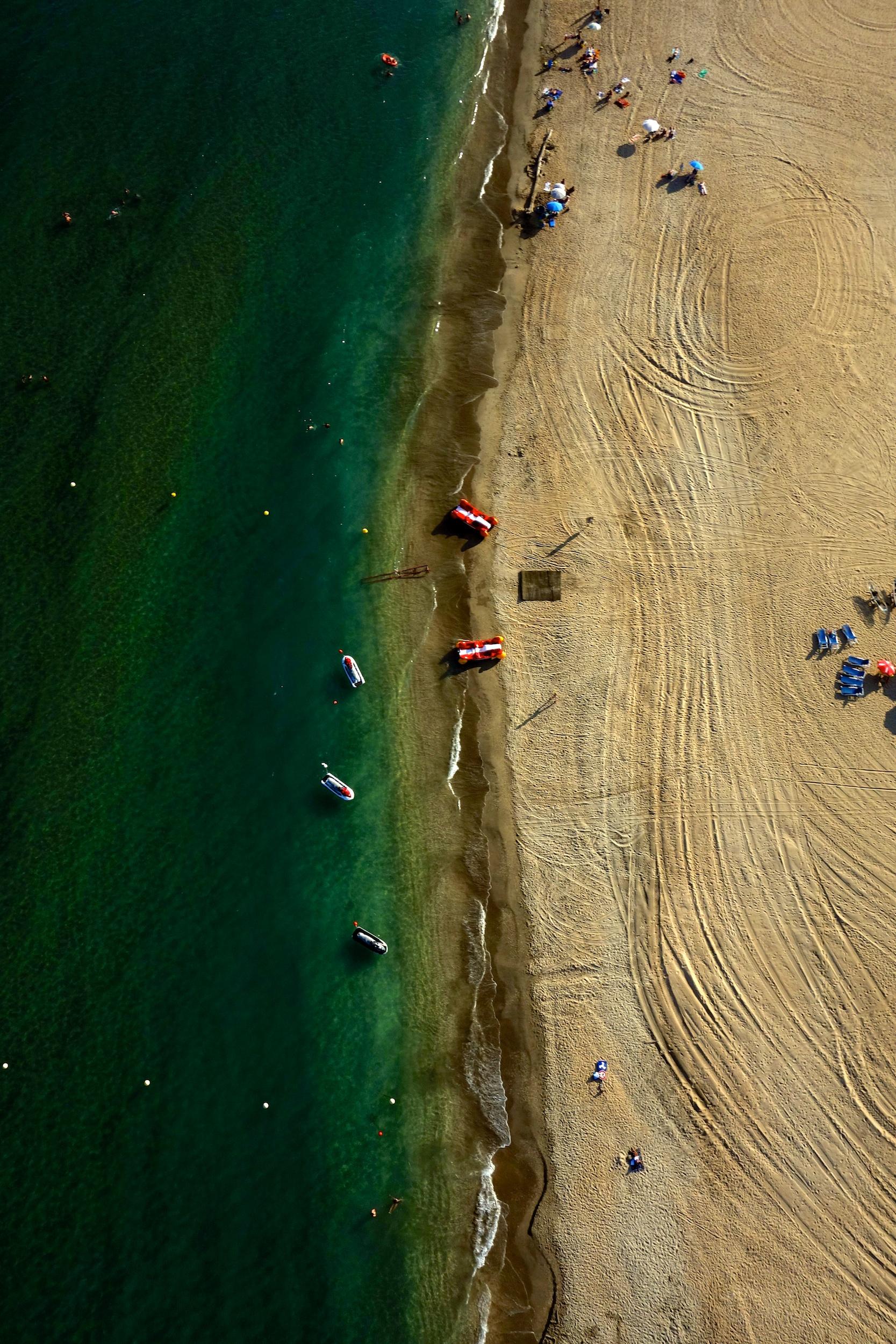 Les trois digues, Sète, France