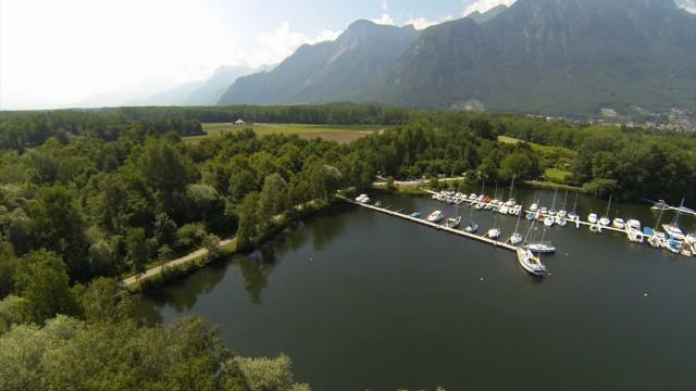 """Port du """"Vieux Rhône"""" à Noville, Switzerland"""