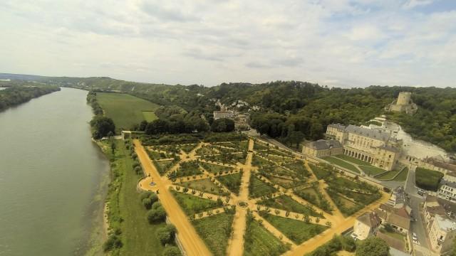 Jardin du Chateau, La Roche Guyon,Vald'oise, FRANCE