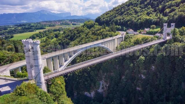 Pont de la Caille, Allonzier, haute-Savoie, france