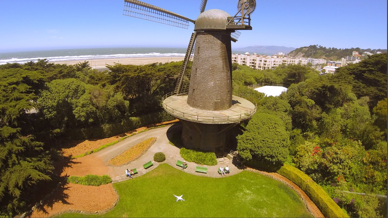Dutch Windmill, San Francisco, California, USA