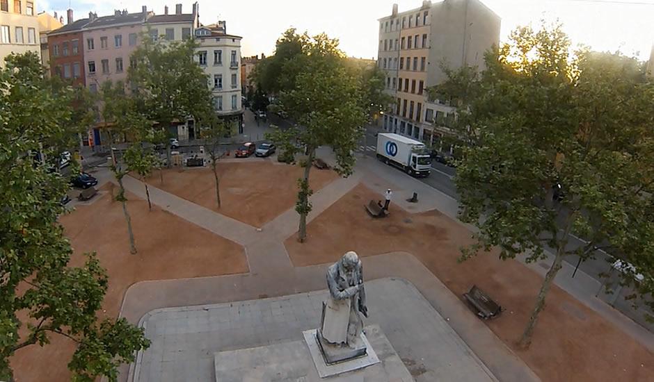 Place de la Croix-Rousse, Lyon, France ...