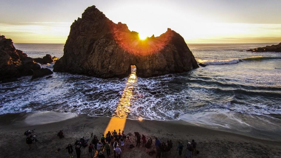 Keyhole arch pfeiffer beach big sur california usa dronestagram