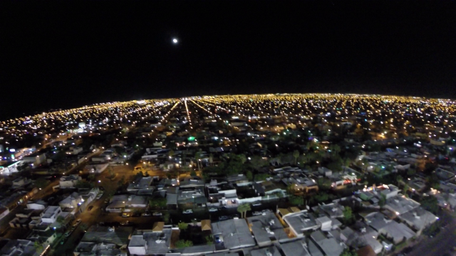 Estadio Casas Geo Nido de Los Aguilas de Noche Mexicali Baja California Mexico
