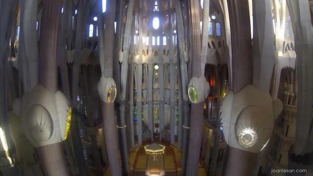 Panorámica aérea interior Sagrada Familia