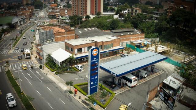 GULF GAS STATION IN ENVIGADO, ANTIOQUIA, COLOMBIA
