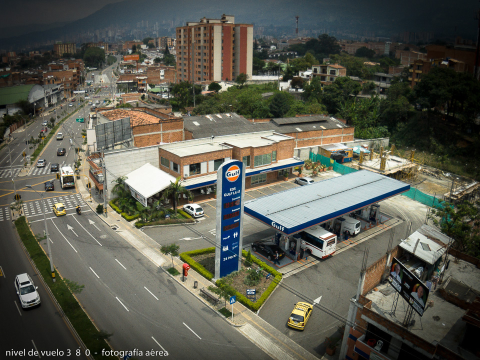 GULF GAS STATION IN ENVIGADO, ANTIOQUIA, COLOMBIA
