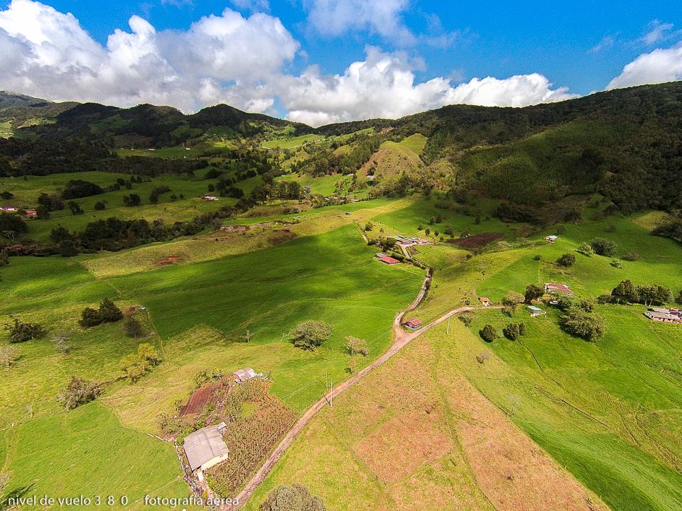 landscape near to San Pedro de los Milagros, 50 km from Medellin, Colombia