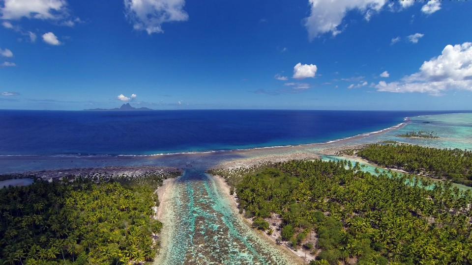 Tahaa French Polynesia  city pictures gallery : Bora Bora from Taha'a lagoon, French Polynesia | Dronestagram