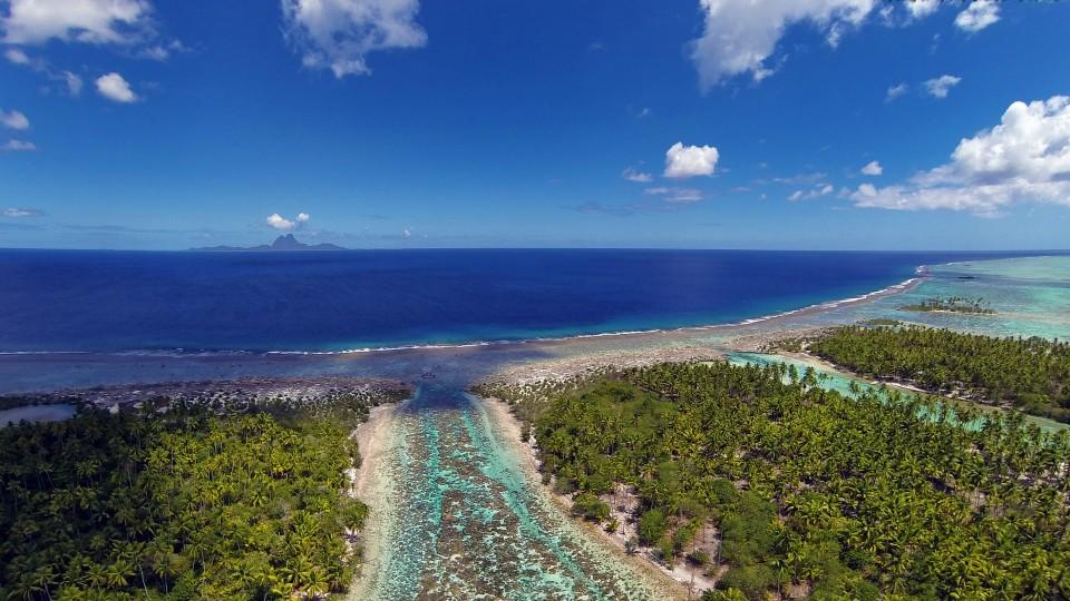 Tahaa French Polynesia  City pictures : Bora Bora from Taha'a lagoon, French Polynesia | Dronestagram