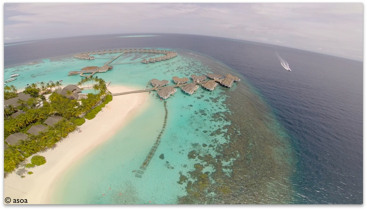 Aerial View of Centara Grand Island Resort Maldives