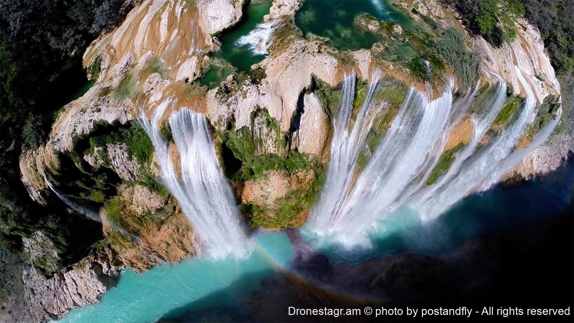 Tamul waterfall dronestagram for Cascada par