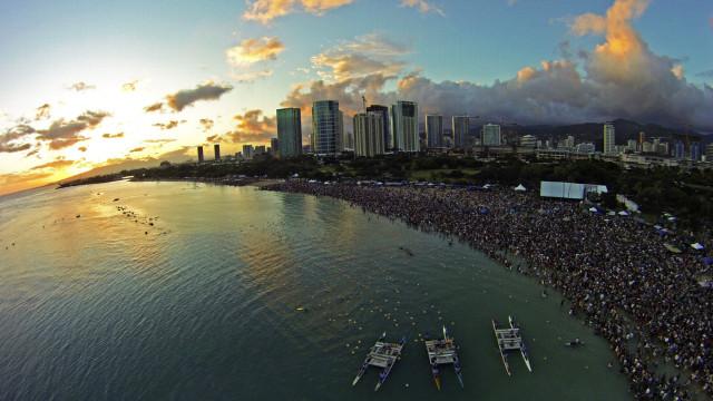 Ala Moana Beach Park, Oahu, Hawaii