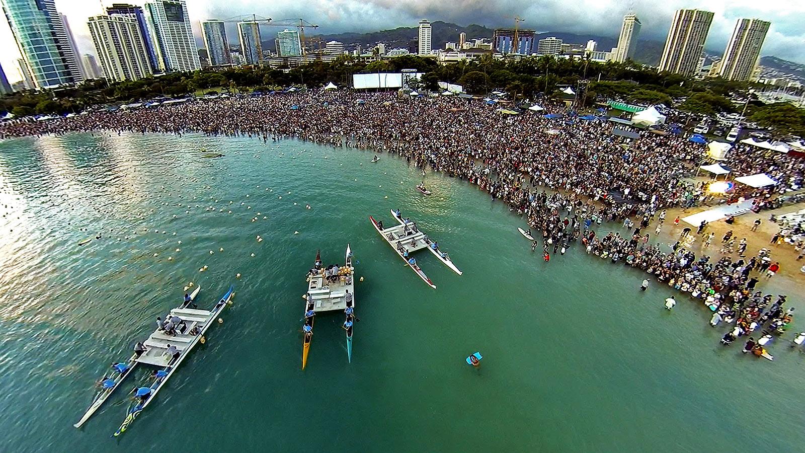 ala moana beach park oahu hawaii dronestagram