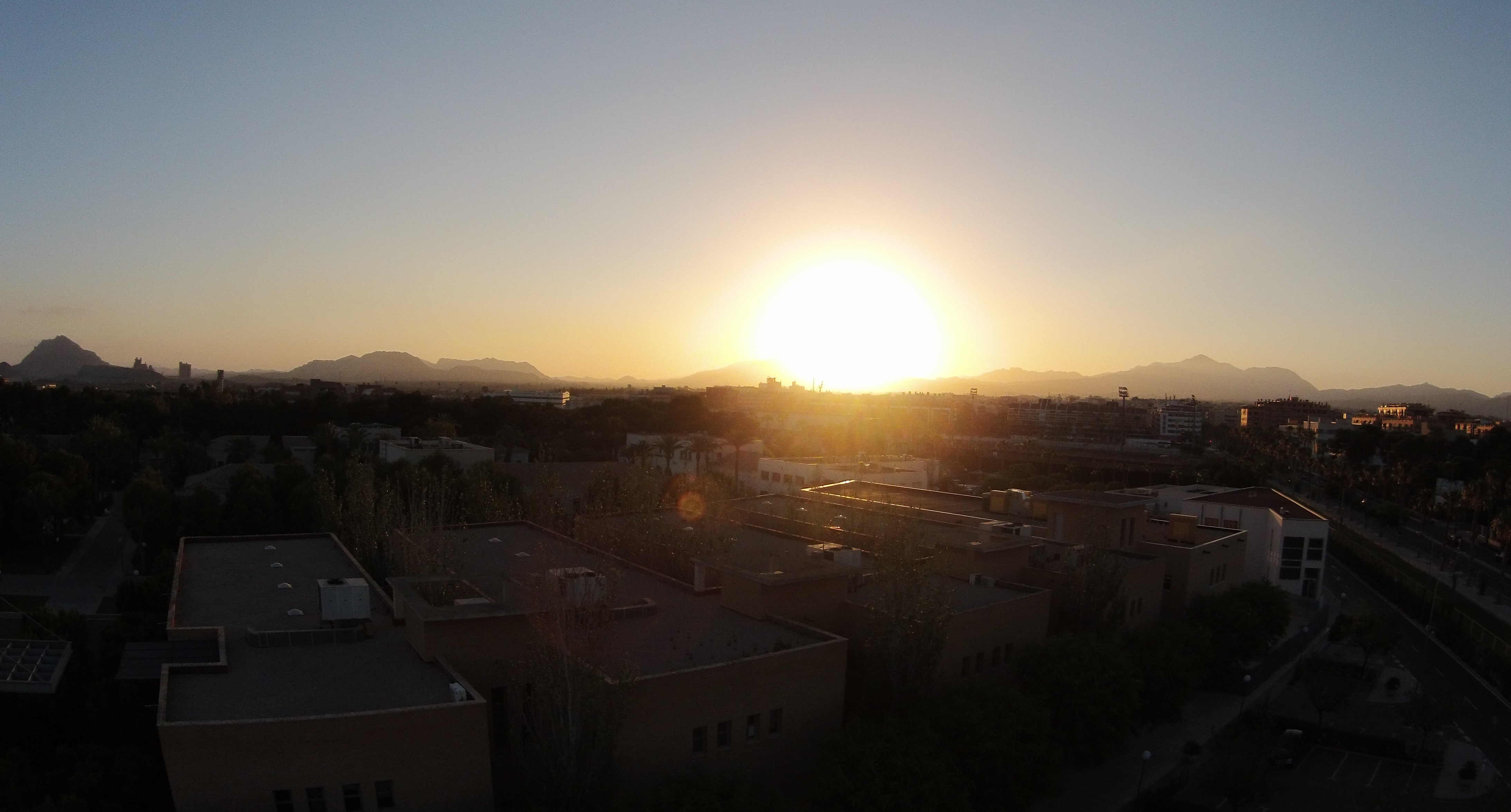Sunset at University of Alicante, Spain