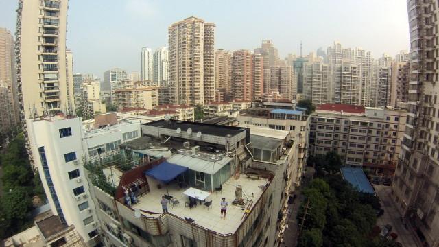 rooftop & Xujiahui neighborhood, Shanghai, China