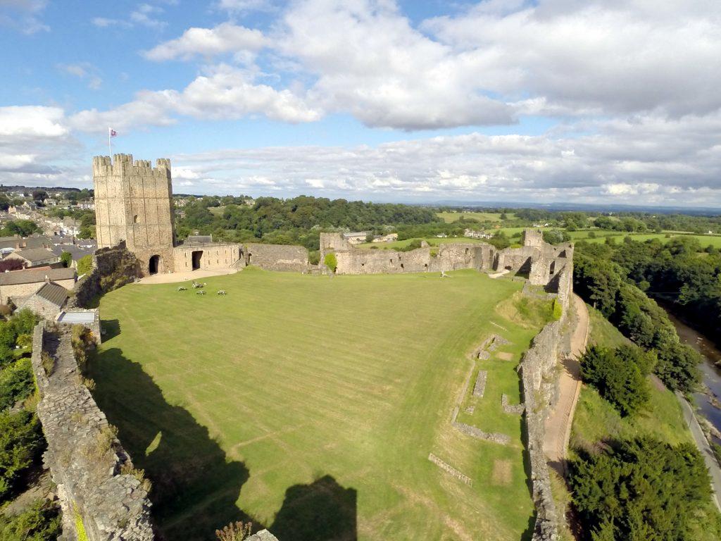 Richmond (North Yorkshire United Kingdom  city photos : Richmond Castle, North Yorkshire, England | Dronestagram