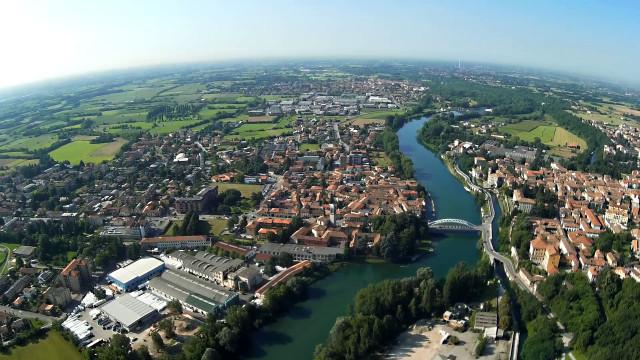 River Adda, Lombardia, Italy.