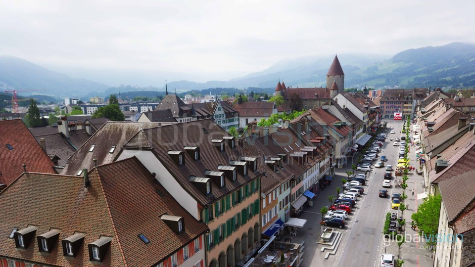 Bulle Switzerland  city photo : Ville de Bulle, Switzerland | Dronestagram
