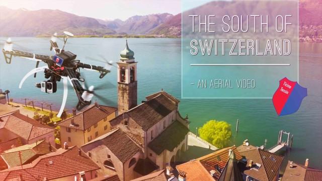 #Switzerland, Tessin Air view / *Summer Edit*