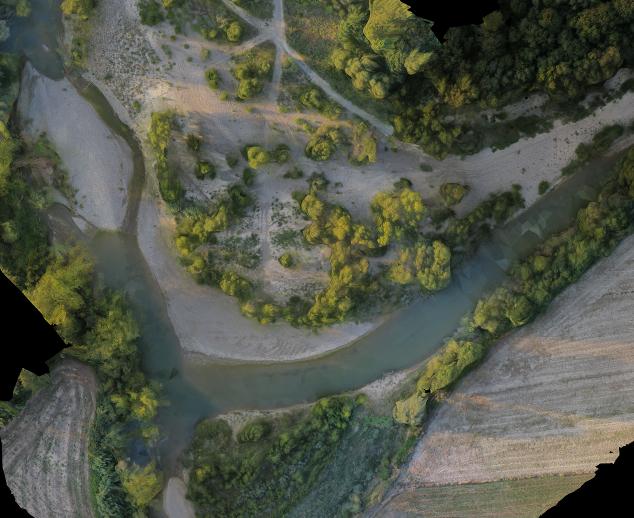 Fiume Cecina nelle vicinanze di Poggio Masino (LI)