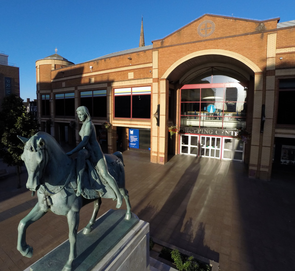 Places To Visit Coventry Uk: Lady Godiva Statue, Coventry City Centre, England