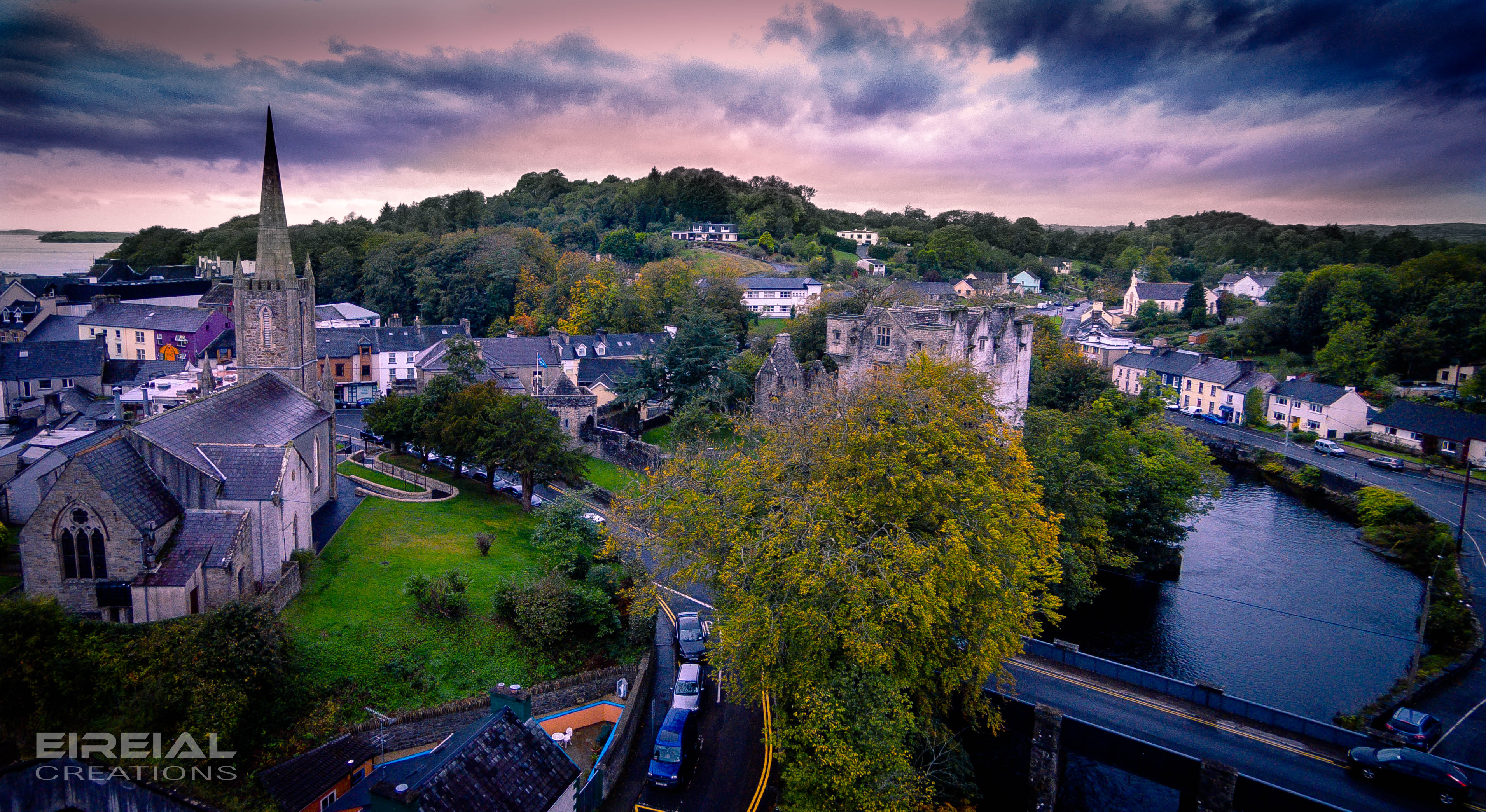 Donegal Ireland  city images : Donegal Castle, Donegal Town, County Donegal, Ireland.   Dronestagram