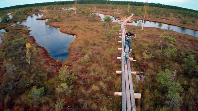 Flatland BMX on Kemeri Marsh Trails, Latvia