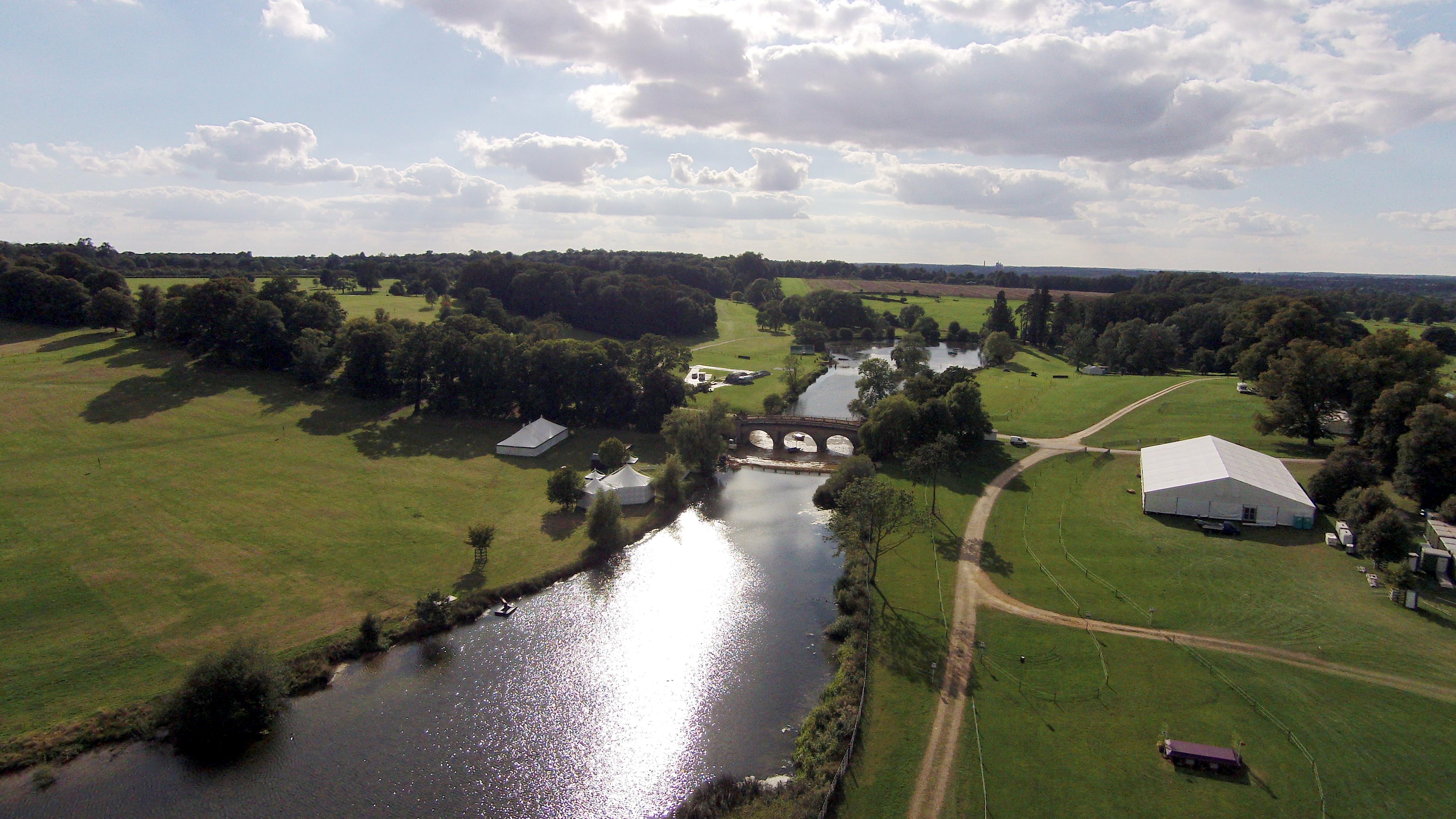 Burghley House Lake Near Stamford Cambridgeshire