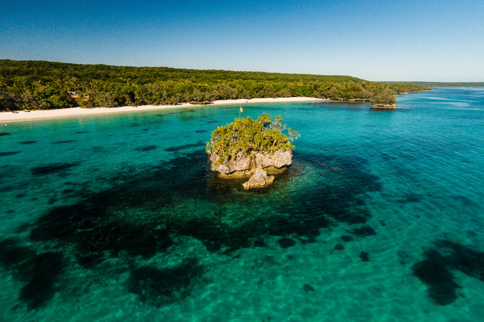 plage de Luengöni, Lifou, Nouvelle-Calédonie