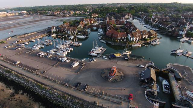 Hythe Marina, Hampshire, UK