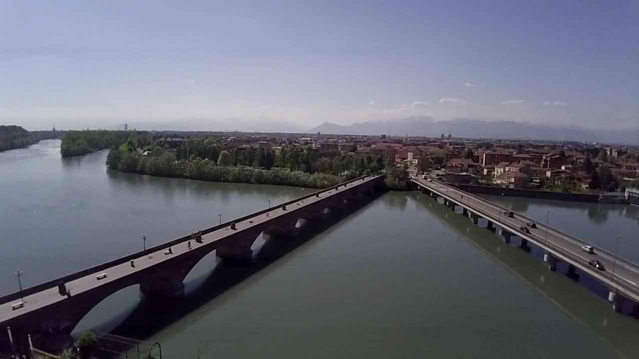 PO River Bridge San Mauro Torinese Torino Italy Dronestagram - Po river