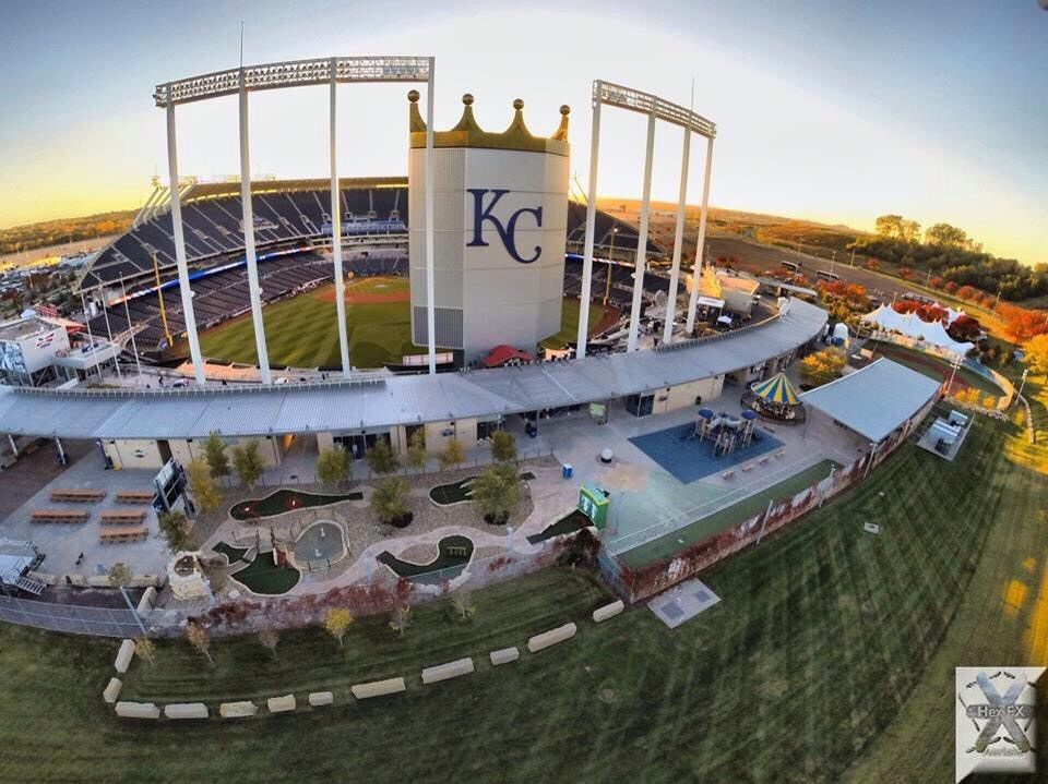 Kauffman Stadium in Kansas City Missouri USA