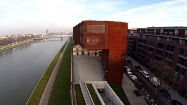 Poland – Kraków – Cricoteka Muzeum Tadeusz Kantora z Powietrza by air-video.pl