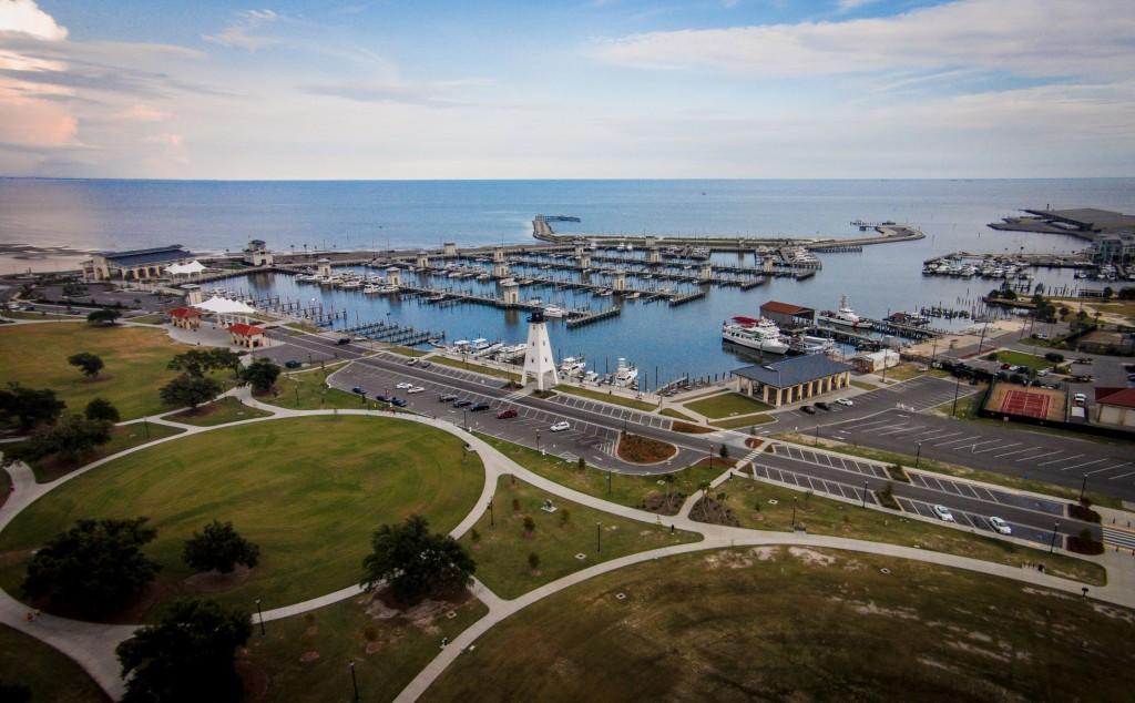 Gulfport Harbor Video, Gulfport, Mississippi, USA | Dronestagram
