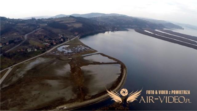 Jezioro Rożnowskie – Tęgoborze from above by air-video.pl