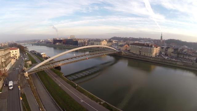 Most Kładka Ojca Bernatka na rzece Wiśle – Kraków Małopolska Polska