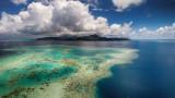 Tahiti from above – Raiatea Lagoon – French Polynesia