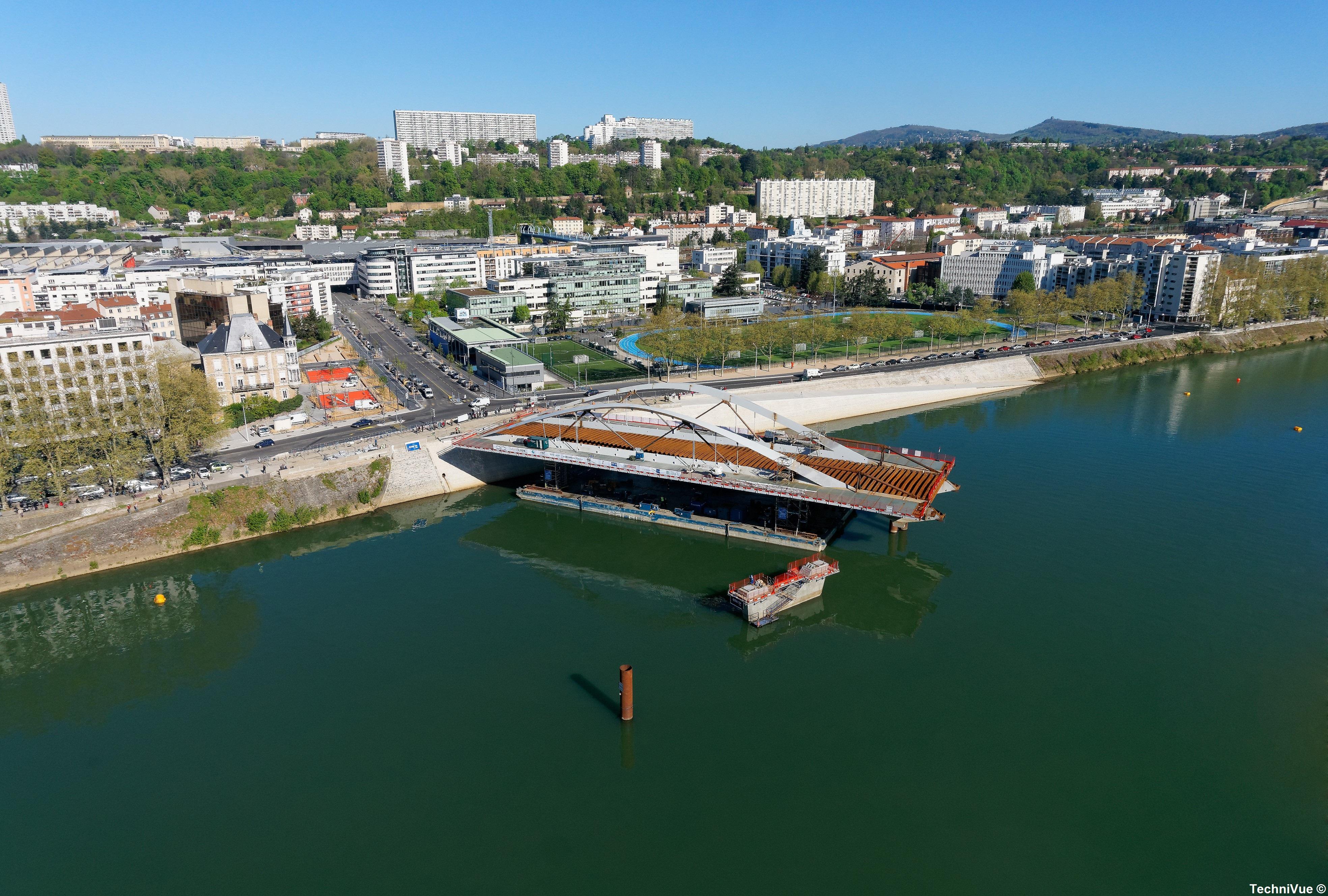 Photo aérienne Pont Schuman Lyon – TechniVue