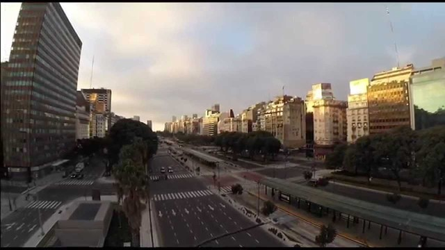 Soccer World Cup at an empty Buenos Aires City