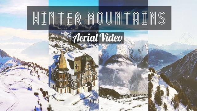Swiss Alps – Winter Aerial Video #Switzerland
