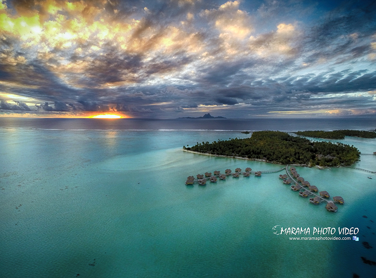 Coucher de soleil à Tahiti – Tahaa sunset