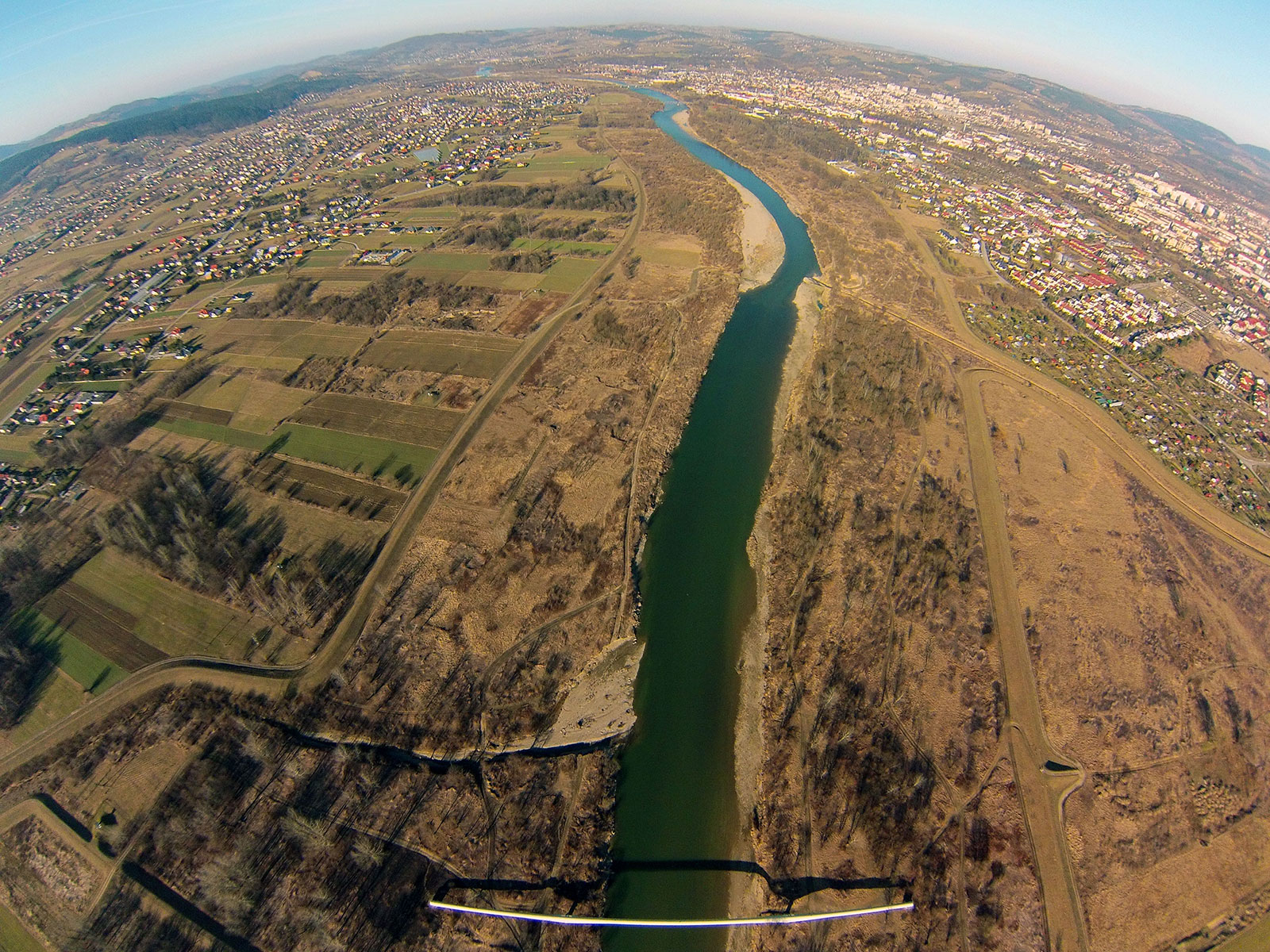 Nowy Sącz widok z lotu ptaka
