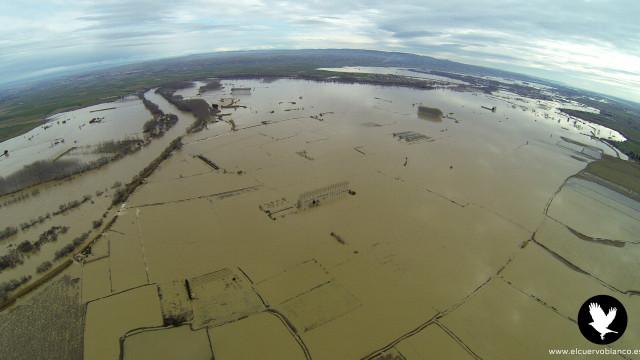 Ebro River Floods, Zaragoza, Spain