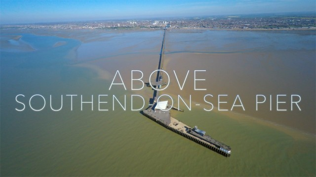 Above Southend-on-Sea Pier