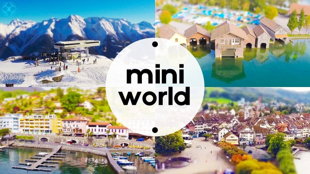 mini world – an aerial tilt shift film [Switzerland]