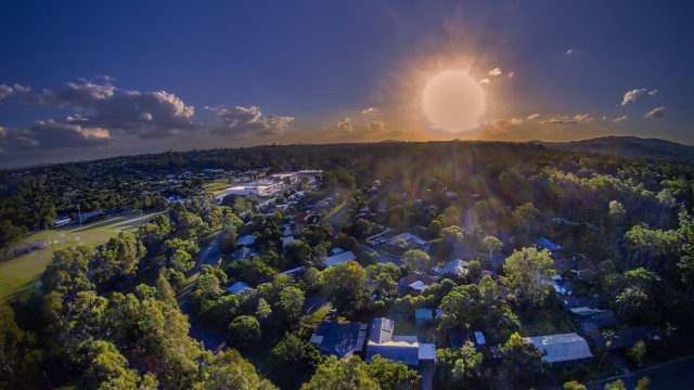 Suburban Sunset, Bellbowrie, Queensland, Australia