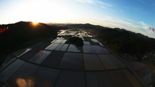 Rice field at Shimanto-cho, Takaoka District, Kochi Prefecture, Japan