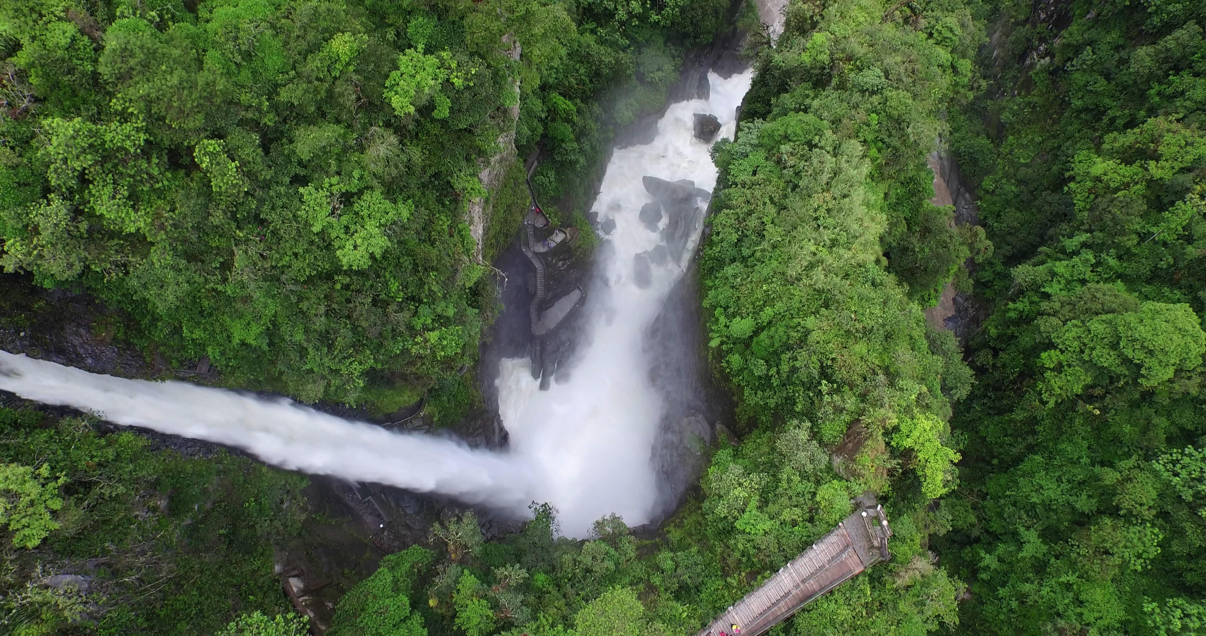 Pailon del Diablo's Waterfall, Baños, Tungurahua, Ecuador