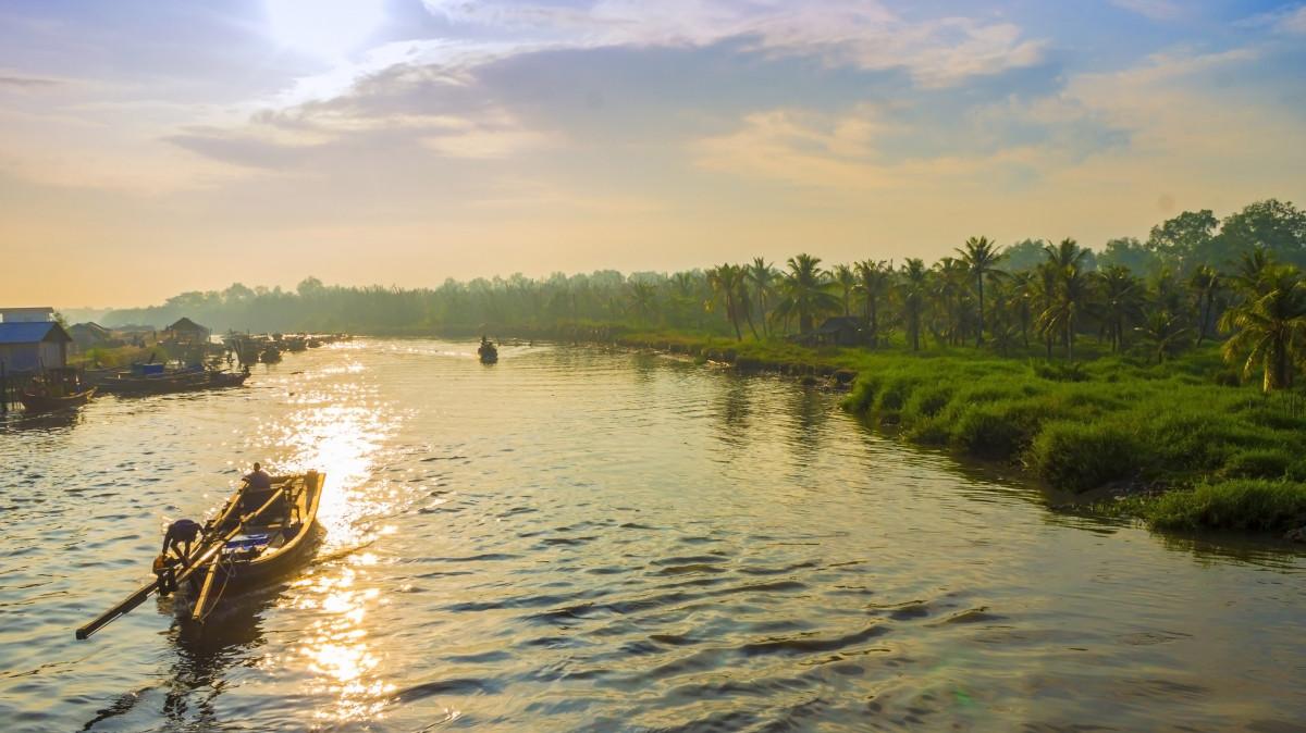 fisherman village, north sumatera, indonesia